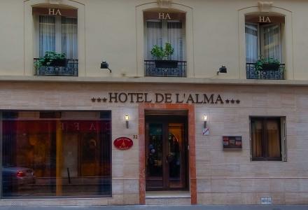 Hôtel de l'Alma - ГЛАВНАЯ